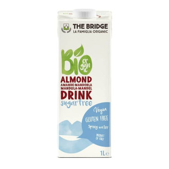 ДЪ БРИДЖ БИО Бадемова напитка (3%) БЕЗ ГЛУТЕН И БЕЗ ЗАХАР 1л | THE BRIDGE BIO Almond drink GLUTEN FREE AND SUGARFREE 1l