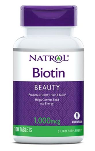 БИОТИН 1000мкг 100 таблетки НАТРОЛ | BIOTIN 1000mcg 100 tabs. NATROL