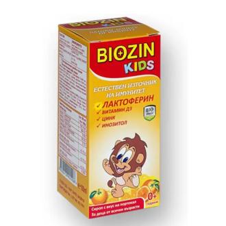 БИОЗИН КИДС Сироп за деца с лактоферин х 100мл БИОШИЛД | BIOZIN KIDS Syrup with lactopherine x 100ml BIOSHIELD