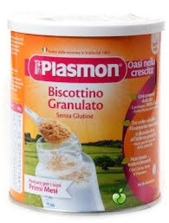 ПЛАЗМОН Бебешки гранулирани бишкоти без глутен 4+ 374гр | PLASMON Biscottino granulato senza glutine 4+ 374g
