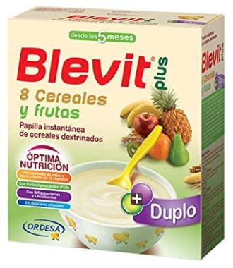 БЛЕВИТ ПЛЮС ДУПЛО Каша 8 зърнени храни с плодове с бифидус ефект 600гр | BLEVIT PLUS DUPLO 8 Cereales y frutas 600g