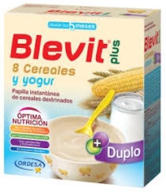 БЛЕВИТ ПЛЮС ДУПЛО Каша 8 зърнени храни с йогурт с бифидус ефект 600гр | BLEVIT PLUS DUPLO 8 Cereales y yogur 600g
