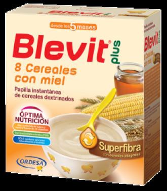 БЛЕВИТ ПЛЮС СУПЕРФИБРА Каша 8 зърнени храни с мед с бифидус ефект 600гр | BLEVIT PLUS SUPERFIBRA 8 Cereales con miel 600g