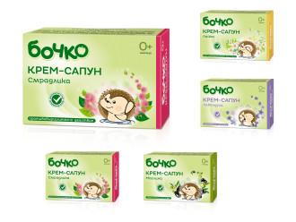 БОЧКО Крем-сапун, различни аромати 75гр | BOCHKO Cream-soap 75g