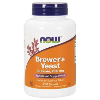 БИРЕНА МАЯ 650 мг таб. 200бр НАУ ФУУДС | BREWER'S YEAST 650 mg tab. 200s NOW FOODS