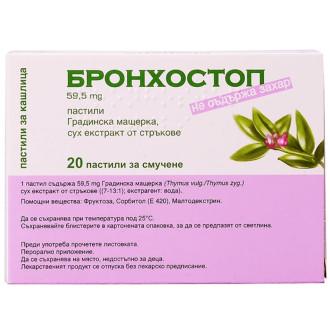 БРОНХОСТОП пастили 20бр. | BRONCHOSTOP pastilles 20s