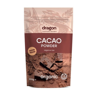 ДРАГОН СУПЕРФУУДС БИО Какао на прах, сурово 200гр | DRAGON SUPERFOODS BIO Cocoa powder 200g