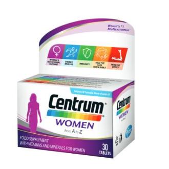 ЦЕНТРУМ А - З ЖЕНИ ПФАЙЗЕР х 30 таблетки | CENTRUM A - Z WOMEN PFIZER x 30 tabs