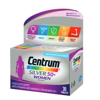 ЦЕНТРУМ СИЛВЪР ЗА ЖЕНИ 50+ ПФАЙЗЕР х 30 таблетки | CENTRUM SILVER FOR WOMEN 50+ PFIZER x 30 tabs