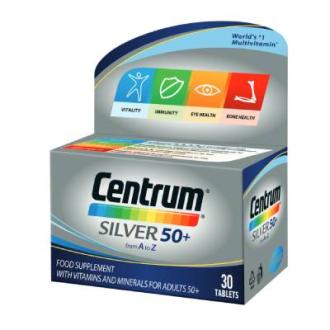 ЦЕНТРУМ СИЛВЪР ЗА ВЪЗРАСТНИ 50+ ПФАЙЗЕР х 30 таблетки | CENTRUM SILVER FOR ADULTS 50+ PFIZER x 30 tabs