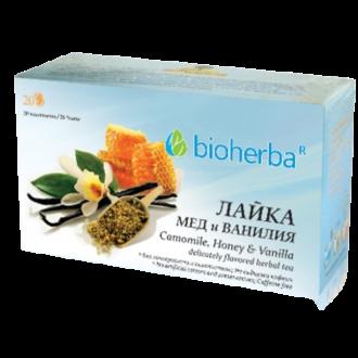 БИОХЕРБА Билков чай Лайка, Мед и Ванилия 20бр филтърни пакетчета | BIOHERBA Herbal infusion Camomile, Honey and Vanilla 20s tisane