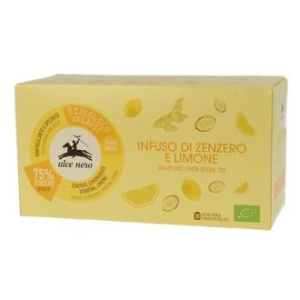 Чай от Джинджифил и Лимон Alce Nero 20бр филтърни пакетчета | Ginger and lemon herbal tea Alce Nero 20s tisane