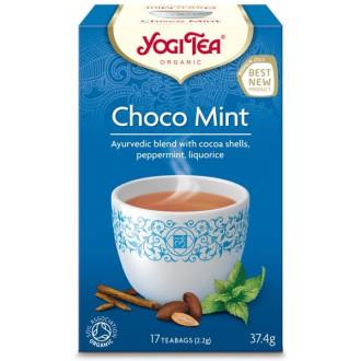 "ЙОГИ ОРГАНИК БИО Аюрведичен чай ""Шоко мента"", пакетчета 18бр | YOGI ORGANIC BIO Ayurvedic tea blend ""Choco mint"" teabags 18s"