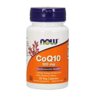 КоQ10 100мг капсули 30 бр. НАУ ФУУДС | CoQ10 100mg caps 30s NOW FOODS