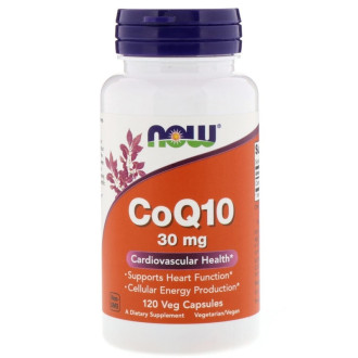 КоQ10 30мг капсули 120 бр. НАУ ФУУДС | CoQ10 30mg caps 120s NOW FOODS