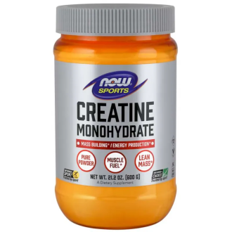 КРЕАТИН прах 600г НАУ ФУУДС | CREATINE pwd 600g NOW FOODS