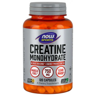 КРЕАТИН МОНОХИДРАТ 750мг капсули 120 бр. НАУ ФУУДС | CREATINE 750mg caps 120s NOW FOODS