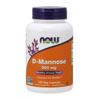 Д-МАНОЗА 500мг капсули 120 бр. НАУ ФУУДС   D-MANNOSE 500mg caps 120s NOW FOODS