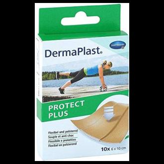 ДЕРМАПЛАСТ ПРОТЕКТ ПЛЮС Пластири за защита на рани на открити места 6см х 10см 10бр | DERMAPLAST PROTECT PLUS Patches 6sm х 10sm 10s