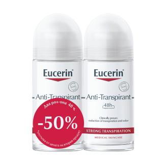 Рол-oн дезодорант за силно изпотяване 2 x 50мл ЮСЕРИН | Deodorant for strong perspirant 2 x 50ml EUCERIN