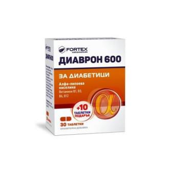 ДИАВРОН 600 таблетки 30+10бр подарък  ФОРТЕКС   DIAVRON 600 tabs 30+10s gift FORTEX