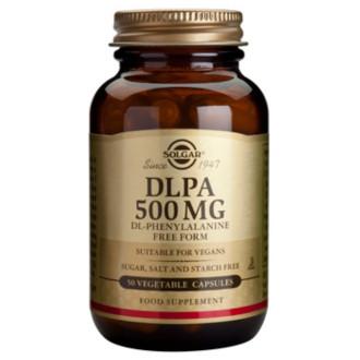 D-L-ФЕНИЛАЛАНИН 500мг, растителни капсули 50бр. СОЛГАР | DLPA 500mg, veg.caps. 50s SOLGAR