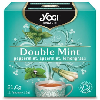 "ЙОГИ ОРГАНИК БИО Чай ""Двойна мента"", пакетчета 12бр 