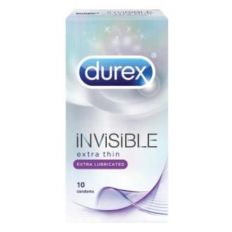 ДЮРЕКС ИНВИЗИБЪЛ Ултра тънки презервативи с екстра лубрикант 10бр. | DUREX INVISIBLE Ultra thin extra lubricated condoms 10 pack