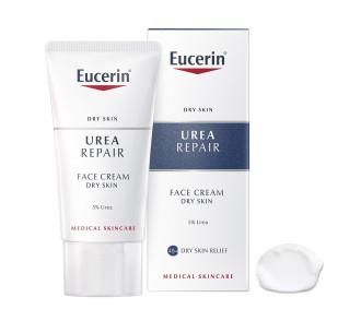ЮСЕРИН УРЕА РИЕПЕЪР 5% Подхранващ крем за лице 50мл   EUCERIN UREA REPAIR 5%  Day care cream 50ml