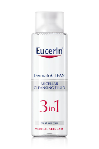 ЮСЕРИН DERMATO CLEAN Мицерален разтвор 3 в 1 400мл | EUCERIN DERMATO CLEAN Miscellar fluid 3 in 1 400ml