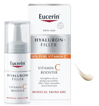 ЮСЕРИН ХИАЛУРОН ФИЛЪР Витамин С бустер 1x8мл или 3х8мл | EUCERIN HYALURON-FILLER Vitamin C booster 1x8ml or 3x8ml