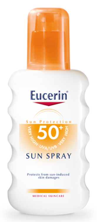 ЮСЕРИН СЪН Слънцезащитен спрей SPF50+ 200мл | EUCERIN SUN Spray SPF50+ 200ml