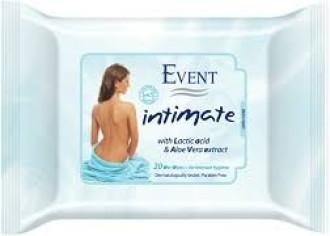 ЕВЕНТ Нежни интимни мокри кърпички с Алое вера 20бр | EVENT Intimate wet wipes Aloe vera 20s