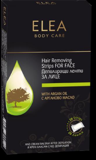 ЕЛЕА Депилиращи ленти за лице с Арганово масло 20бр | ELEA Hair removing Face strips with Argan oil 20s