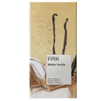 БИО Бял шоколад с Ванилия (веган) 80гр ВИВАНИ | BIO White Chocolate with Vanilla (vegan) 80g VIVANI
