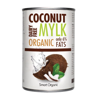 СМАРТ ОРГАНИК БИО Кокосово мляко консерва, 6% мазнини 400мл | SMART ORGANIC BIO Coconut mylk, canned, 6% fat 400ml