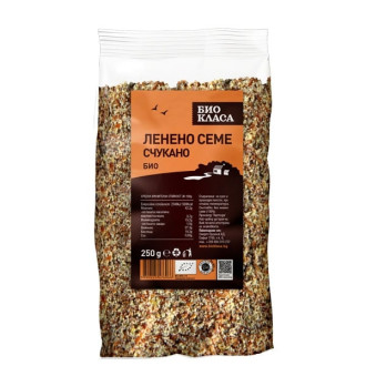 БИО Ленено семе счукано 250гр БИО КЛАСА | BIO Flaxseed crushed 250g BIO KLASA