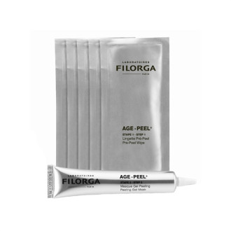 ФИЛОРГА Комплект за домашен пилинг - пре-пилинг кърпички 5x3.5мл + пилинг гел 20мл | FILORGA AGE-PEEL Pre-peel wipes 5x3.5ml + Peeling gel mask 20ml