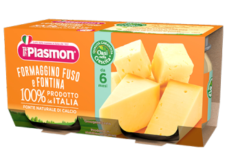 ПЛАЗМОН Пюре сирене Фонтина 4+ 2x80гр | PLASMON Formaggino fuso e Fontina 4+ 2x80g