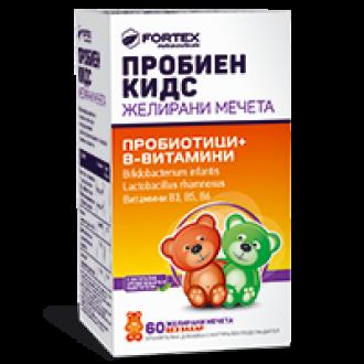 ПРОБИЕН КИДС желирани мечета 60бр ФОРТЕКС | PROBIEN KIDS gummy bears 60s FORTEX