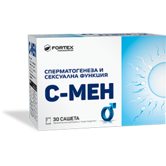 С-МЕН 30бр. сашета ФОРТЕКС | S-MEN 30s sachets FORTEX