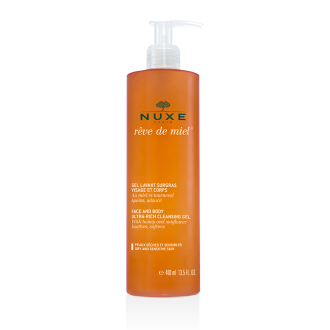 НУКС РЕВ ДЬО МИЕЛ Почистващ гел за лице и тяло 400мл | NUXE REVE DE MIEL Face and body ultra-rich cleansing gel 400ml
