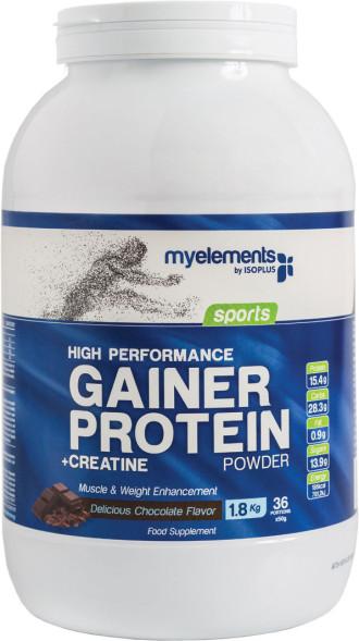 Гейнър с вкус на шоколад 1,8кг МАЙЕЛЕМЪНТС | High performance gainer protein powder 1,8kg MYELEMENTS