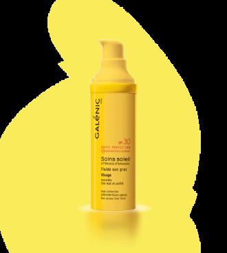 ГАЛЕНИК СОИН СОЛЕЙЛ Слънцезащитен флуид за лице без мазнини SPF30 40мл | GALENIC SOINS SOLEI Facial fluid no fat SPF30 40ml