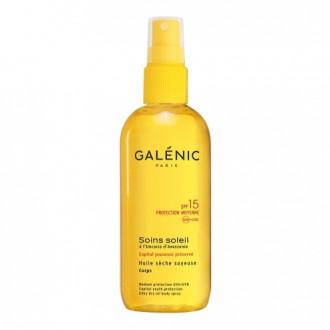 ГАЛЕНИК СОИН СОЛЕЙЛ Слънцезащитно сухо масло за тяло SPF15 150мл | GALENIC SOINS SOLEI Silky dry oil body spray SPF15 150ml