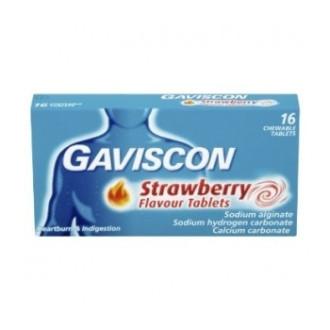 ГАВИСКОН ЯГОДА 250мг. таблетки за дъвчене 16бр. | GAVISCON STRAWBERRY 250mg chewable tablets 16s