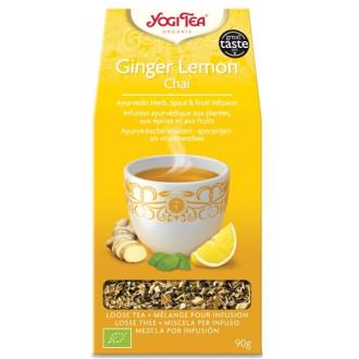 "ЙОГИ ОРГАНИК БИО Аюрведичен чай ""Джинджифил с лимон"", насипен 90гр | YOGI ORGANIC BIO Ayurvedic tea blend ""Ginger lemon"" loose 90g"