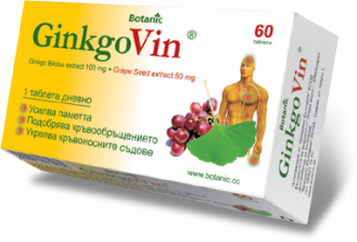 ГИНКОВИН таблетки 60бр. БОТАНИК | GINKOVIN tablets 60s BOTANIC