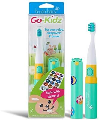 БРЪШ-БЕЙБИ ГОУ-КИДС Електрическа четка за зъби 3+ 1бр. с подарък СТИКЕРИ | BRUSH-BABY GO-KIDS Electrical toothbrush 3+ 1s whit gift STICKERS