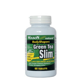 ЗЕЛЕН ЧАЙ /SLIM/ 630мг 60 таблетки МЕЙСЪН НАТУРАЛ | GREEN TEA /SLIM/ 630mg 60 tabs MASON NATURAL